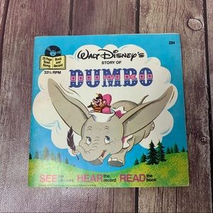 DISNEY Dumbo Read-a-Long Book & Record 1968